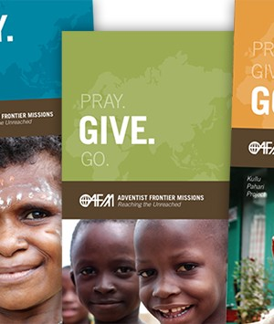 Pray. Give. Go. Brochures